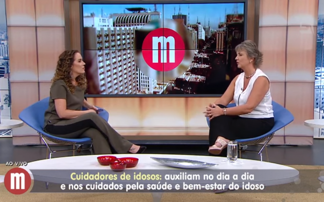 Cláudia Mancini no programa Mulheres da TV Gazeta